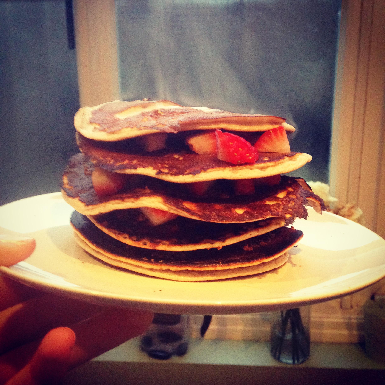 Strawberry protein pancakes recipe